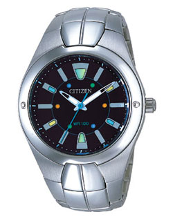 Citizen AO2000-55F OXY Gents watch with stainless steel strap