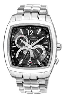 Citizen AP1037-54ET Stainless Steel Eco-Drive Moon-PhaseMens watch WR100m