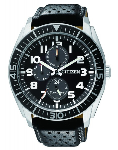 Citizen AP4010-03E Eco-Drive Mens Solar Watch leather band WR100m