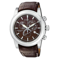 Citizen Eco-Drive AT0550-11X leather band Mens watch