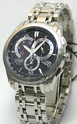 Citizen AT1007-51E Stainless Steel Eco-Drive Mens watch WR100m