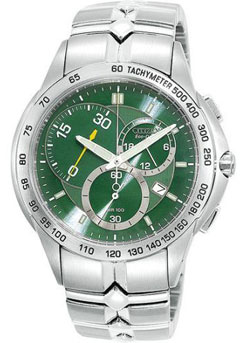 Citizen AT1060-58W Stainless  Steel Eco-Drive WR100 Mens watch