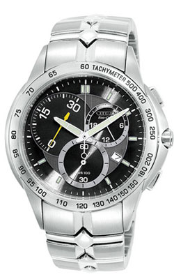 Citizen AT1061-55E Stainless Steel Eco-Drive Mens watch WR100m