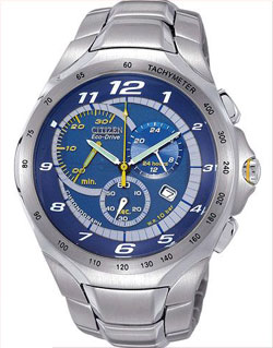 Citizen AT1091-54M Eco-Drive Blue Dial, Stainless Steel Bracelet Gents Watch