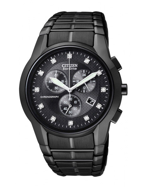 Citizen AT2055-52G Eco-Drive Mens Solar Chronograph Diamond Watch