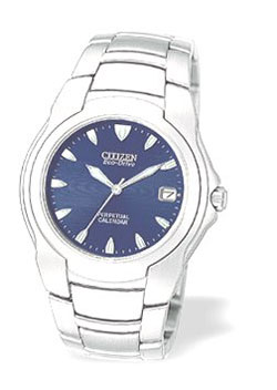 Citizen Eco-Drive blue dial stainless steel BL0020-51M Perpetual Calendar Gents watch