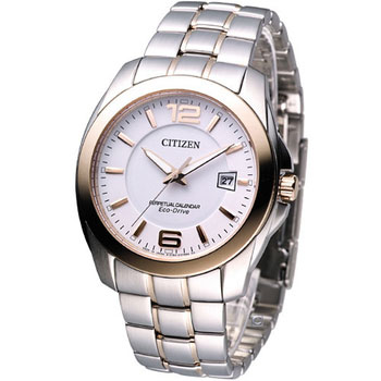 Citizen BL1248-57A Eco-Drive Perpetual Calendar Mens Solar Watch