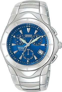 Citizen BL5100-56M Eco-Drive Perpetual Calendar Stainless Steel WR200m Mens Chronograph Watch