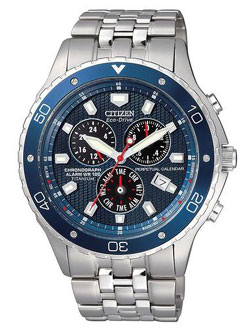 CITIZEN ECO-DRIVE BL5350-59L Mens Watch Perpetual Calendar WR100m Titanium