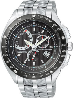CITIZEN ECO-DRIVE BL5364-54E Mens Watch Perpetual Calendar WR200m
