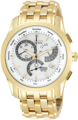 Citizen BL8002-59A Eco-Drive Mens Gold Tone 8700 Calibre Perpetual Calendar Mens Watch