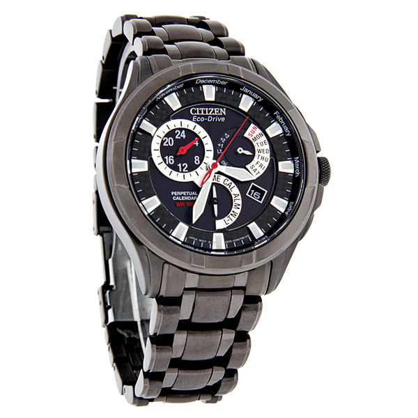 Citizen BL8097-52E Eco-Drive Mens Perpetual Calendar Alarm Watch