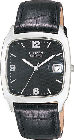 Citizen BM0850-06E Citizen Eco-Drive 180 Black Face - Black Leather Strap Gents watch