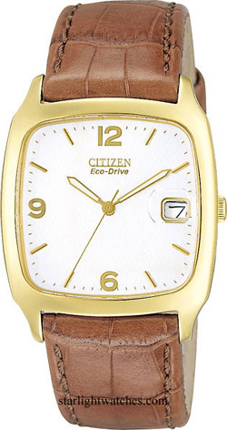 Citizen BM0852-01A Citizen Eco-Drive 180 Champagne Face - Brown Leather Strap Gents watch