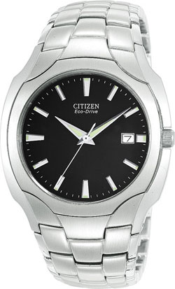 Citizen BM6010-55E Eco-Drive Black Dial, Stainless Steel Bracelet Gents Watch