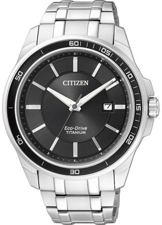 Citizen BM6921-58E Eco-Drive Titanium Solar Mens Watch WR100m