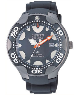 Citizen Titanium BN0015-07E Mens Eco-Drive WR200m Mens Divers watch