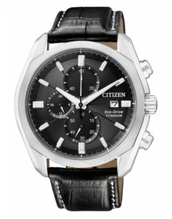 CITIZEN CA0021-02E Eco-Drive Chronograph Gents Titanium Watch
