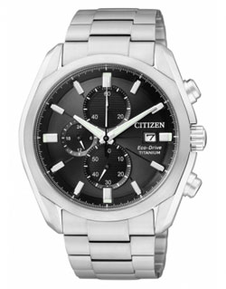 CITIZEN CA0021-53E  Eco-Drive Chronograph Gents Titanium Watch