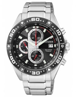 CITIZEN CA0030-52E  Eco-Drive Chronograph Gents Titanium Watch