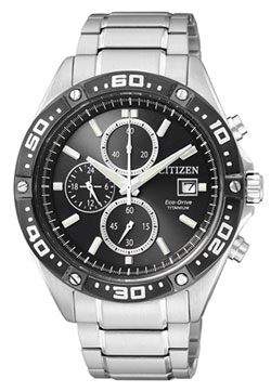 CITIZEN CA0030-61E Eco-Drive Chronograph Gents Titanium Watch