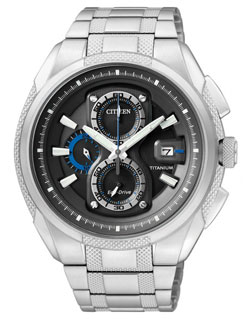 CITIZEN Eco-Drive Titanium Mens Watch CA0201-51E watch WR 100m Gents watch