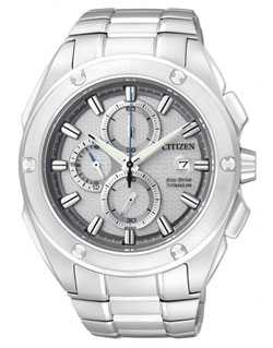 Citizen Eco-Drive Titanium CA0210-51A Mens Chronograph Watch