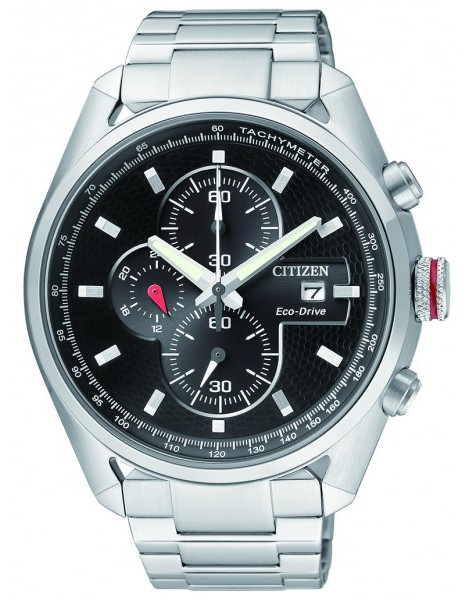 Citizen CA0360-58E Eco-Drive Mens Solar Watch Chronograph WR100m