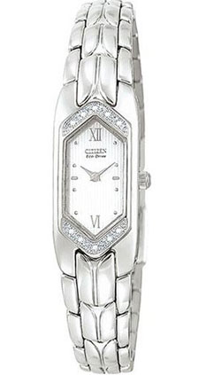 Citizen EG2080-51A 10 real Diamonds Mother of Pearl Ladies Eco-Drive watch