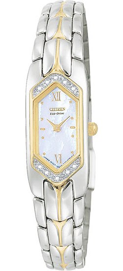 Citizen EG2084-68D 10 real Diamonds Mother of Pearl Ladies Eco-Drive watch