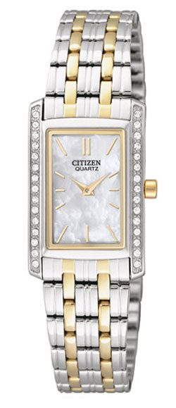 CITIZEN EK1124-54D Quartz Ladies Crystal watch with Mother of Pearl Dial