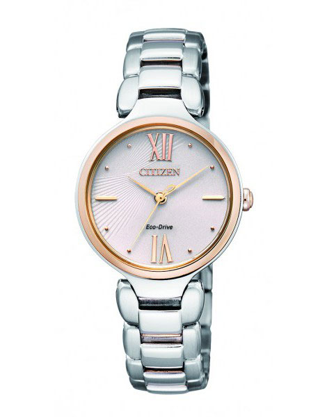 Citizen EM0024-51W Eco-Drive Ladies Solar Rose Gold Watch WR50m