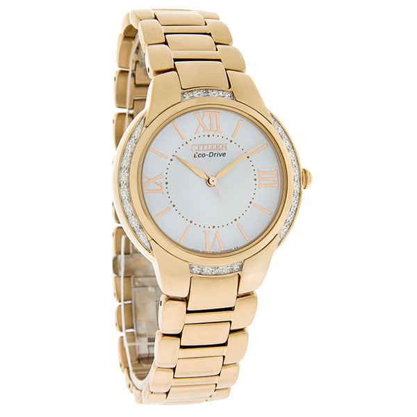 Citizen EM0093-59A Eco-Drive Ladies Diamond Gold Watch