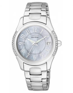Citizen EO1041-54D Eco-Drive Ladies Watch Mother of Pearl Dial