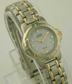 Citizen EP5074-57A two tone stainless steel Eco-Drive Ladies watch