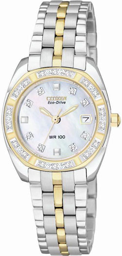 Citizen EW1594-55D Eco-Drive Mother of Pearl Diamonds Ladies watch
