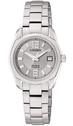 Citizen Eco-Drive EW2101-59A Titanium Ladies Dress Watch