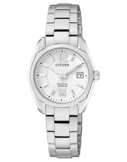Citizen Eco-Drive EW2101-59B Titanium Ladies Dress Watch