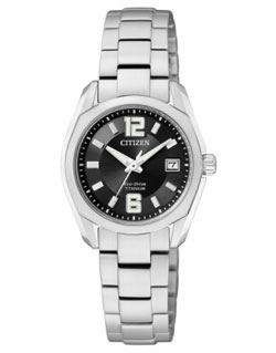 Citizen Eco-Drive EW2101-59E Titanium Ladies Dress Watch