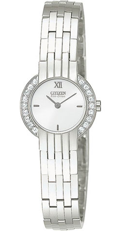Citizen EW8260-52A Eco-Drive White Dial, Stainless Steel Bracelet Ladies Watch