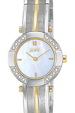 Citizen EW8374-53D 16 real Diamond Two-Tone Ladies Eco-Drive watch