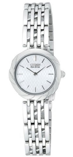 Citizen EW8620-59A Eco-Drive White Dial, Stainless Steel Bracelet Ladies Watch