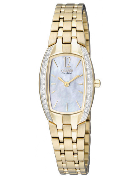 Citizen EW9962-50D Eco-Drive Ladies Solar Crystal watch GOLD
