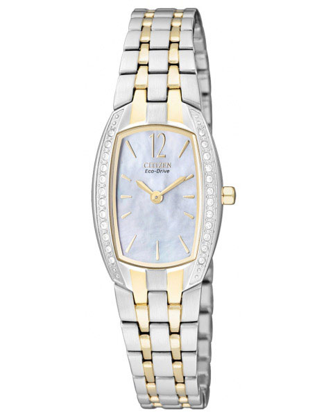 Citizen EW9964-54D Eco-Drive Ladies Solar Crystal watch two-tone