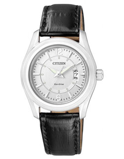 Citizen Eco-Drive FE1011-03B Ladies Dress Leather Band Watch