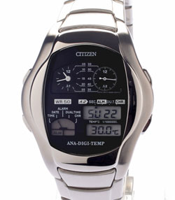 Citizen ANA-DIGI TEMP WATCH FUTURIST RARE RETRO JG2081-57E