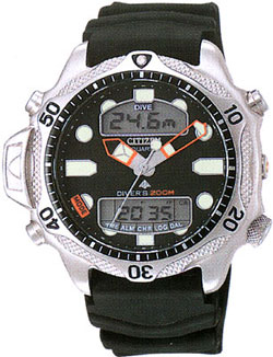 Citizen JP1010-00E Promaster Aqualand Divers watch 200m with rubber strap