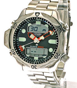 Citizen Promaster Aqualand II JP1010-51E Divers watch 200m with stainless steel strap
