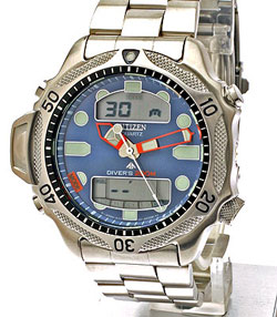 Citizen Promaster Aqualand II JP1010-51L Divers watch 200m with stainless steel strap