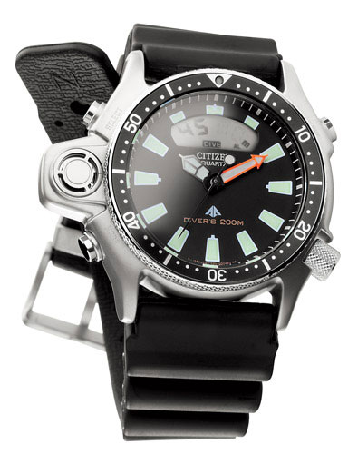 Citizen Promaster Aqualand II JP2000-08E Divers watch 200m with rubber strap